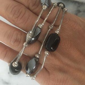Jewelry - Black Onyx silver dual use necklace / bracelet